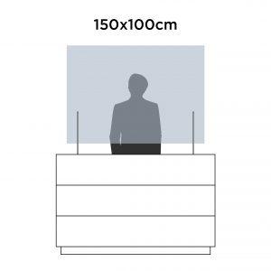 Mampara protección 150x100cm