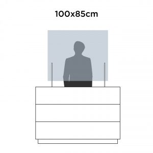 Mampara protección 100x85cm